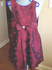 Perfectly Dressed Girls Dress Size 5 Shinny Red sequins sleeveless Taffeta GD55