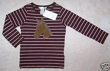 NWT 92 Euro 18-24 Months H&M PINK & BROWN Striped Horse TOP Shirt