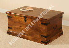 Artistic Wooden Storage blanket box  cum Coffee / center table (Rectangular) !
