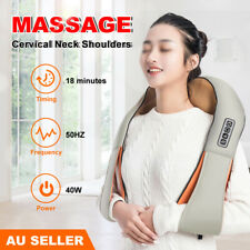 Massager Shoulder Wrap Vibrator Back Neck Body Leg Arm Shiatsu Deep Knead Car