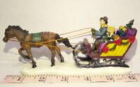 Grandeur Noel  One Horse Sleigh Victorian Christmas Village 2003