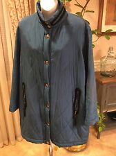 PANCALDI Jacket Coat NWT 100% Silk Snap Front With Black trim made in Italy