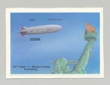 Uganda Zeppelins, Statue of Liberty 1v S/S Chromalin Proof Unissued Design