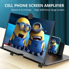 "3D 5D 6D Pantalla De Teléfono Móvil Lupa Amplificador Video Soporte 8/10/12 "" B"