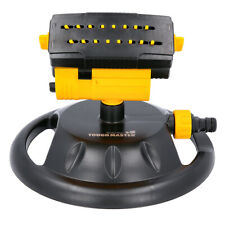 More details for oscillating lawn sprinkler garden watering system water flow with 16 nozzles