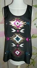 """""""ROCK & REPUBLIC"""" Glitter tank top, med, glitter design on the front of tank top"""