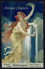 c1905 Schweppes Soda Water Ginger Ale Chromo Advertising Postcard B176