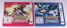 Giochi: Pokemon alfa zaffiro + Omega rubino per Nintendo 2ds, 3ds, 3ds XL, NEW