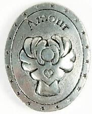 Médaille En Étain Larme D'ange Amour (Fabrication Française)