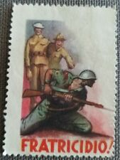 "Erinnofilo ""FRATRICIDIO"" propaganda fascista seconda guerra mondiale"