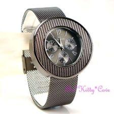 Relojes de pulsera unisex de acero inoxidable cronógrafo