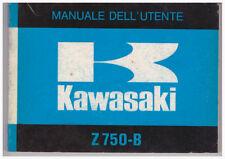 Folleto Manual Uso y Mantenimiento Original Kawasaki Z750B en Italiano