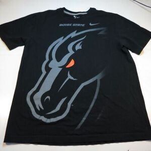NIKE BOISE STATE UNIVERSITY BRONCOS COLLEGE TEE T SHIRT Sz Mens L