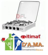 """Fornello a gas gpl portatile 4 fuochi con bruciatori in acciaio inox """"itimat"""""""