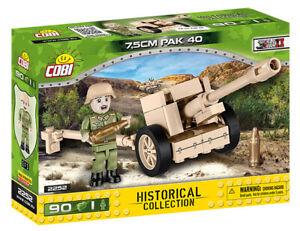 Cobi 2252 (90pcs) German 7.5cm PAK 40 Gun with Soldier Figure & Accessories