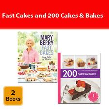 Mary Berry Fast Cakes and 200 Cakes & Bakes 2 books set Hamlyn 200 recipes NEW