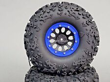 2.2  Truck Rims Wheels Rock CRAWLER  Beadlock Wheels  -Set Of 4- BLUE
