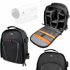 Black Compact Backpack w/ Rain Cover for Sony FDR-X3000R Action Camera