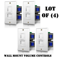 Lot of (4) Pyle PVC2 Wall Mount Impedance Matching Vertical Slide Volume Control
