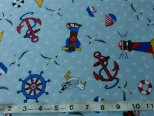 Crafts By the Metre Beach & Nautical 100% Cotton Fabric