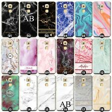 Personalised Marble Phone Case/Cover for Huawei G Smartphone Initial/Name/Custom