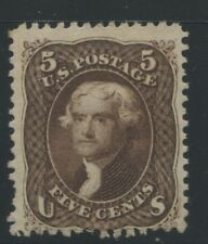 1863 US Stamp #76 5c Mint No Gum F/VF Catalogue Value $525 Certified