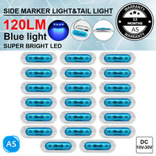 20X 4 LED Blue Clearance Side Indicator Marker Lamp for Tow Truck Lorry RV Light