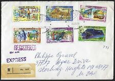 SOMALIA 1980s TEN REGISTERED EXPRESS MAIL COVER BEARING DIFFERENT SETS INCLUDING