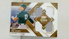 2016 Elite Extra Edition Quad Materials Holo Gold QA-MO M. OLSON /99 !!Athletics