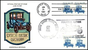 Scott 1906 17 Cents Electric Auto Collins Hand Painted FDC