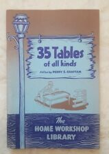 35 Tables Of All Kinds, Perry Graffam | Home Workshop Library, 1950 Handbook