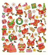 Scrapbooking Crafts Stickers Sk Jolly Santa Presents Wreaths Bells Christmas Bag