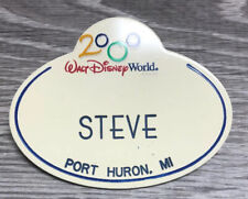 Vintage 2000 Walt Disney World Cast Member Name Tag Badge Steve Port Huron, MI