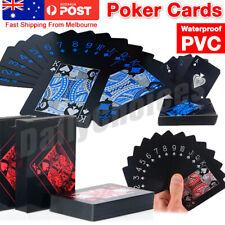Poker Waterproof PVC Plastic Playing Cards Set Classic Magic Tricks Tool AZ