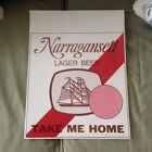 Vintage Narraganset Lager Beer Take Me Home Store Display Sign