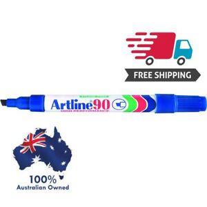 Artline 90 BLUE 5mm Chisel Nib Box 12