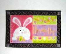 Dollhouse Miniature Easter  Welcome Mat or Rug - Hoppiity Hop!