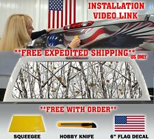 CAMO CAMOUFLAGE PICKUP TRUCK BACK WINDOW GRAPHIC DECAL TINT HUNTER SNOW STORM