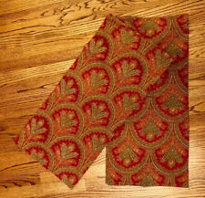 POTTERY BARN TWO MARCELLE PAISLEY EURO SHAMS Pillow Cover Cotton Linen Red