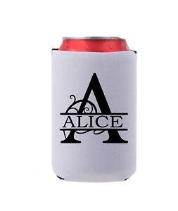 White Neoprene Beer / Bottle / Can Cooler /Stubby Holder Sleeve