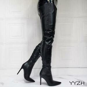 Runway Women's Pointy Toe Sexy High Heel Over The Knee Thigh High Boots Party