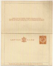 Kgv 2d Orange Post Office Issue Letter Card Lcp9 Mint Unused c1920