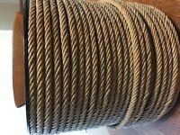 Civil War drum cord 40 foot 6mm 7 strand polished hemp rope antique field drum
