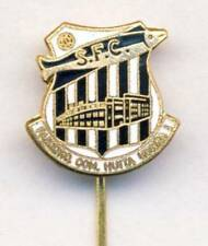 old SANTOS FC Football PIN BADGE Soccer SAO PAULO BRAZIL Futebol Clube PEIXE Wht