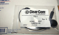 Clear-Com Ts1 Mono Talent Earphone for Tr50 or Ifb Partyline Systems (New)