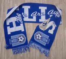 Greece Soccer Hellas Here We Are Again Scarf ~ Blue White ~ 52""