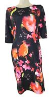J D Williams Plus Size Black & Bright Floral Stretch Dress from Lorraine Kelly O