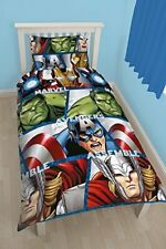 Marvel Avengers Shield Single Reversible Duvet Cover Bedding Set
