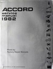 1982 Honda Accord Factory Service Manual Original Shop Repair