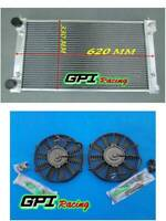 2row ALUMINIUM RADIATOR & Fans for VW GOLF MK1 MK2 GTI SCIROCCO 1.6 1.8 8V MT